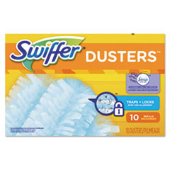 Swiffer® Refill Dusters, DustLock Fiber, Light Blue, Lavender Vanilla Scent,10/Bx,4Bx/Ctn