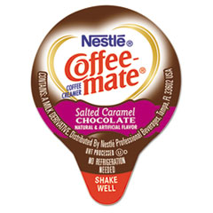 Coffee-mate® Liquid Coffee Creamer, Salted Caramel Chocolate, 0.375 oz Mini Cups, 50/Box NES77197
