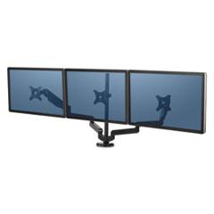 Fellowes® Platinum Series Triple Monitor Arm, 53 x 6 x 35, Black