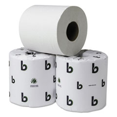 Boardwalk® Boardwalk Green Plus Bathroom Tissue, White, 2 Ply, 500 Sheets, 80/Carton BWK25GREEN
