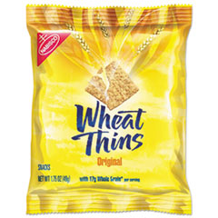 Wheat Thins Crackers, Original, 1.75 oz Bag, 72/Carton