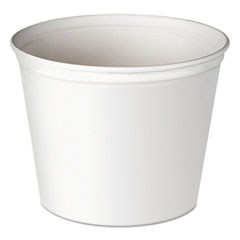 Dart® Double Wrapped Paper Bucket, Unwaxed, White, 83oz, 100/Carton