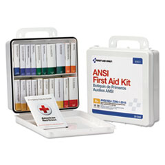 First Aid Only™ Unitized Weatherproof ANSI Class A+ First Aid Kit for 50 People, 24 Units