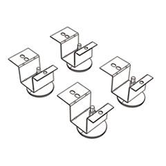 HON® Brigade Pedestal Adjustable Glides, 2 x 2 x 2, Black