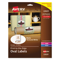 Avery® Oval Print-to-the-Edge Labels Thumbnail