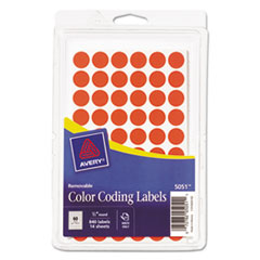 Avery® Handwrite Only Self-Adhesive Removable Round Color-Coding Labels Thumbnail