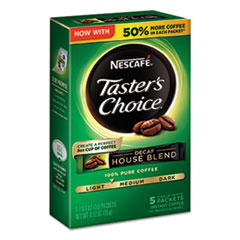 Nescafé® Taster's Choice Decaf House Blend Instant Coffee, 0.1oz Stick, 5/Box, 12 Bx/Ctn NES86073