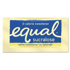 Equal® Zero Calorie Sweetener, 0.035 oz Packet, 100/Box, 12 Box/Carton EQL90077