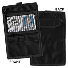 Advantus Travel ID/Document Holder, Hold 4 1/4 x 2 1/4 Cards, Black Nylon, 5/Pack
