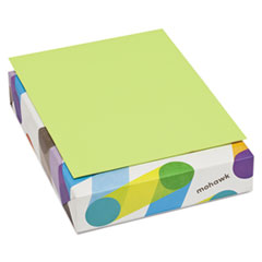 Mohawk BriteHue Multipurpose Colored Paper, 20lb, 8 1/2 x 11, Ultra Lime, 500 Sheets