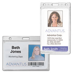 Advantus® Frosted Rigid Badge Holders Thumbnail
