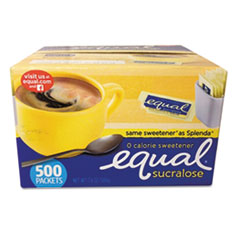 Equal® Zero Calorie Sweetener, 0.035 oz Packets, 500/Box