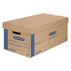 Bankers Box® SmoothMove Classic Large Moving Boxes, 21l x 17w x 17h, Kraft/Blue, 5/Carton FEL7718201