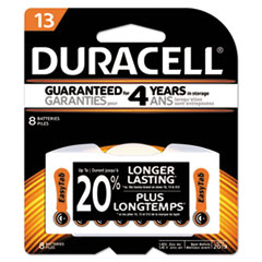 Duracell® Button Cell Lithium Battery, #13, 8/Pk