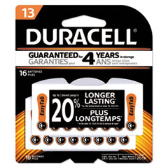 Duracell® Button Cell Hearing Aid Battery #13, 16/Pk