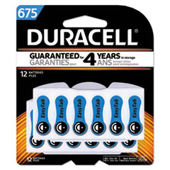 Duracell® Button Cell Hearing Aid Battery #675, 12/Pk