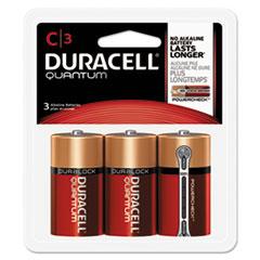Duracell® Quantum Alkaline Batteries, C, 3/PK