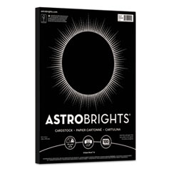 Astrobrights® Color Cardstock, 65 lb, 8.5 x 11, Eclipse Black, 100/Pack
