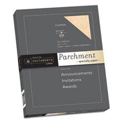 Southworth® Parchment Specialty Paper, 24 lb, 8.5 x 11, Copper, 100/Pack