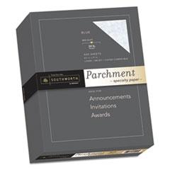 Southworth® Parchment Specialty Paper, 24 lb, 8.5 x 11, Blue, 500/Ream