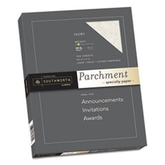 Southworth® Parchment Specialty Paper, 24 lb, 8.5 x 11, Ivory, 100/Pack