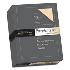 Southworth® Parchment Specialty Paper, 24 lb, 8.5 x 11, Copper, 500/Box