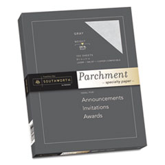 Southworth® Parchment Specialty Paper, 24 lb, 8.5 x 11, Gray, 100/Pack
