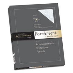 Southworth® Parchment Specialty Paper, 24 lb, 8.5 x 11, Blue, 100/Pack