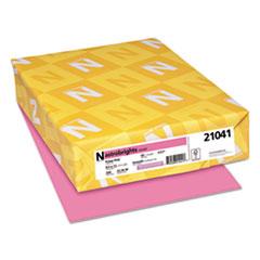 Astrobrights® Color Cardstock, 65 lb, 8.5 x 11, Pulsar Pink, 250/Pack