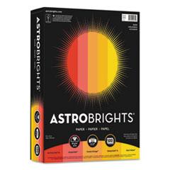 """Astrobrights® Color Paper - """"Warm"""" Assortment, 24lb, 8.5 x 11, Assorted Warm Colors, 500/Ream"""