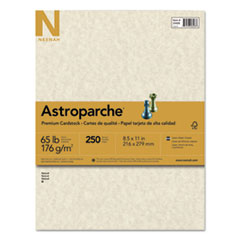 Astrobrights® Color Cardstock, 65 lb, 8.5 x 11, Natural Parchment, 250/Pack