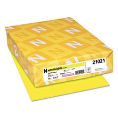 Astrobrights® Color Cardstock, 65 lb, 8.5 x 11, Lift-Off Lemon, 250/Pack