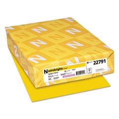 Astrobrights® Color Cardstock, 65 lb, 8.5 x 11, Sunburst Yellow, 250/Pack