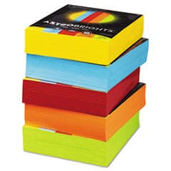 Color Paper - Five-Color Mixed Carton, 24lb, 8.5 x 11, Assorted, 250 Sheets/Ream, 10 Reams/Carton