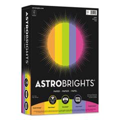 "Astrobrights® Color Paper - ""Happy"" Assortment, 24lb, 8.5 x 11, Assorted Happy Colors, 500/Ream"