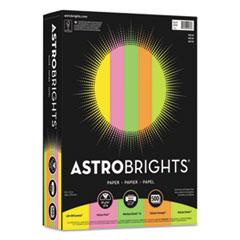 "Astrobrights® Color Paper - ""Neon"" Assortment, 24lb, 8.5 x 11, Assorted Neon Colors, 500/Ream"