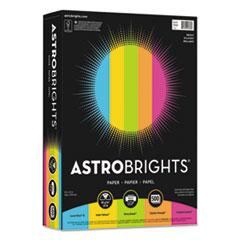 """Astrobrights® Color Paper -""""Bright"""" Assortment, 8 1/2 x 11, 5 Colors, 24lb, 500 Sheets WAU99608"""