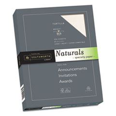 Southworth® Naturals Paper, Tortilla, 8 1/2 x 11, 32lb, 100 Sheets SOU99419