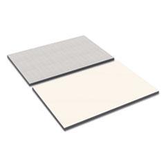 Alera® Reversible Laminate Table Top, Rectangular, 36w x 24d, White/Gray ALETT3624WG