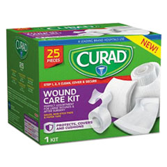 Curad® Wound Care Kit: Gauze, Non-Stick Pads and Paper Tape