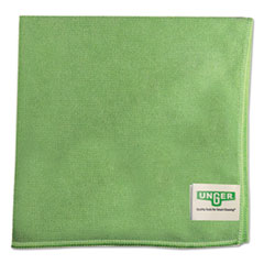 Unger® SmartColor MicroWipes, Microfiber, 16 x 15, Green, 10/Carton