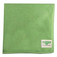 Unger® SmartColor MicroWipes, Microfiber, 16 x 15, Green, 10/Carton