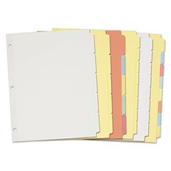Avery® Write-On Plain-Tab Paper Dividers Thumbnail