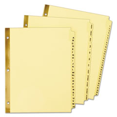 Avery® Preprinted Laminated Tab Dividers with Gold Reinforced Binding Edge Thumbnail