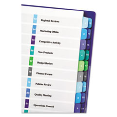 Avery® Ready Index® Customizable Table of Contents Double Column Dividers Thumbnail