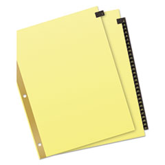 Avery® Preprinted Black Leather Tab Dividers with Gold Reinforced Binding Edge Thumbnail