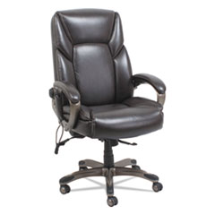 Alera® Shiatsu Heated Massage Chair, Chocolate Marble, Bronze Base ALESH7159