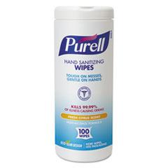 PURELL® Hand Sanitizing Wipes, 5 7/10x7 1/2, Fresh Citrus Scent, 100/Canister, 4/Carton GOJ911104ECCT