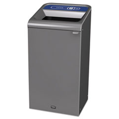 Rubbermaid® Commercial Configure Indoor Recycling Waste Receptacle, 23 gal, Gray, Paper