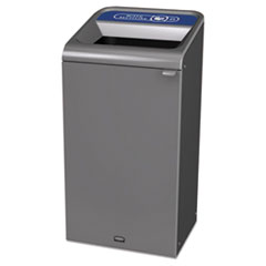 Rubbermaid® Commercial Configure Indoor Recycling Waste Receptacle, 23 gal, Gray, Mixed Recycling